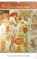 Kal. Alfons Mucha Collections nástěnný PRESCO 2019